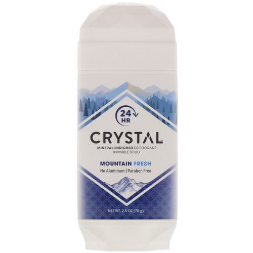 Crystal Body Deodorant, Mineral Enriched Deodorant, Invisible Solid, Mountain Fresh, 2.5 oz (70 g) Review