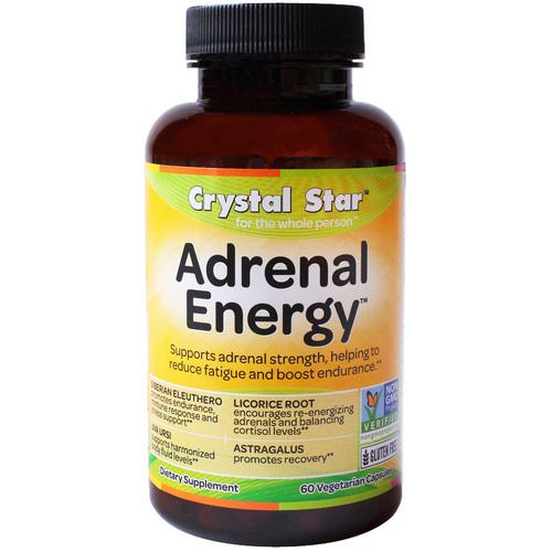 Crystal Star, Adrenal Energy, 60 Veggie Caps Review