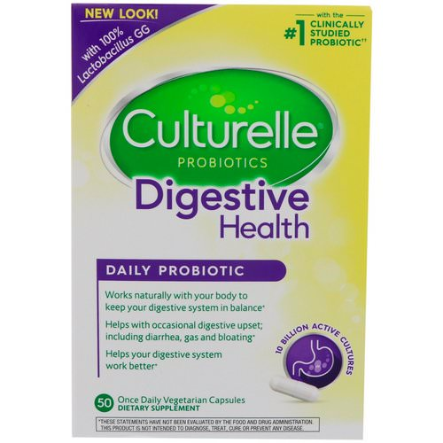 Culturelle, Digestive Health, Daily Probiotic, 50 Once Daily Vegetarian Capsules Review
