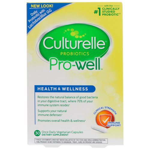 Culturelle, Health & Wellness, Immune Support, 30 Once Daily Vegetarian Capsules Review