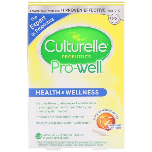 Culturelle, Probiotics, Pro-Well, Health & Wellness, 50 Once Daily Vegetarian Capsules Review