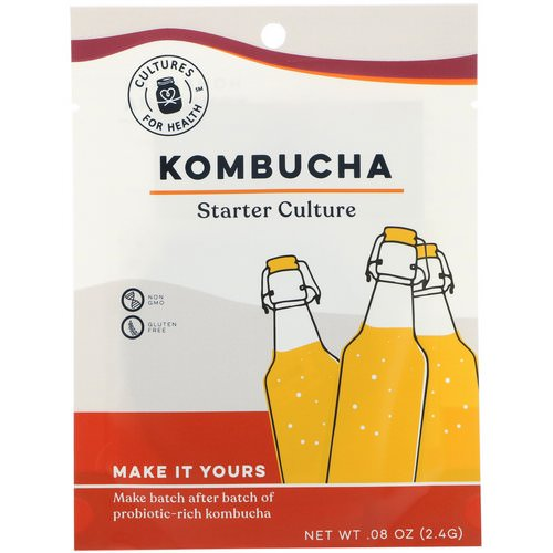 Cultures for Health, Kombucha, 1 Packet, .08 oz (2.4 g) Review