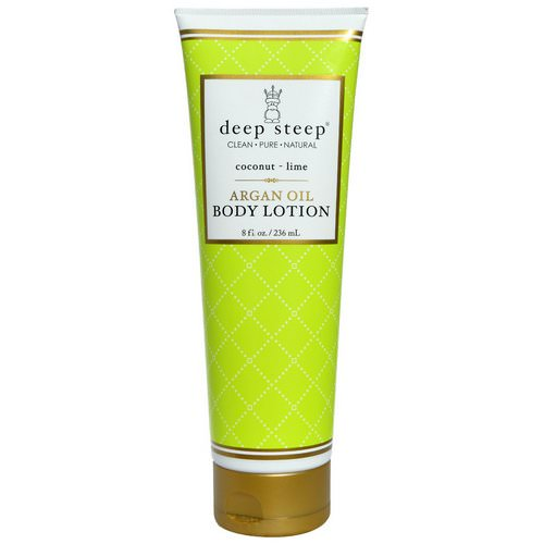 Deep Steep, Argan Oil Body Lotion, Coconut - Lime, 8 fl oz (237 ml) Review