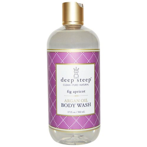Deep Steep, Argan Oil Body Wash, Fig Apricot, 17 fl oz (502 ml) Review