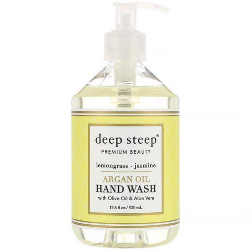 Deep Steep, Argan Oil Hand Wash, Lemongrass-Jasmine, 17.6 fl oz (520 ml) Review