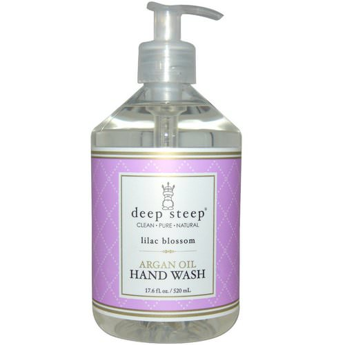 Deep Steep, Argan Oil Hand Wash, Lilac Blossom, 17.6 fl oz (520 ml) Review