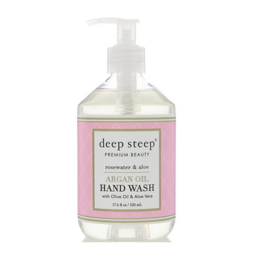 Deep Steep, Argan Oil Hand Wash, Rosewater & Aloe, 17.6 fl oz (520 ml) Review
