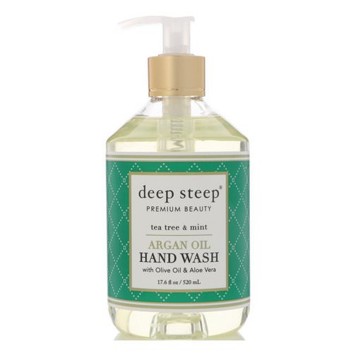 Deep Steep, Argan Oil Hand Wash, Tea Tree & Mint, 17.6 fl oz (520 ml) Review