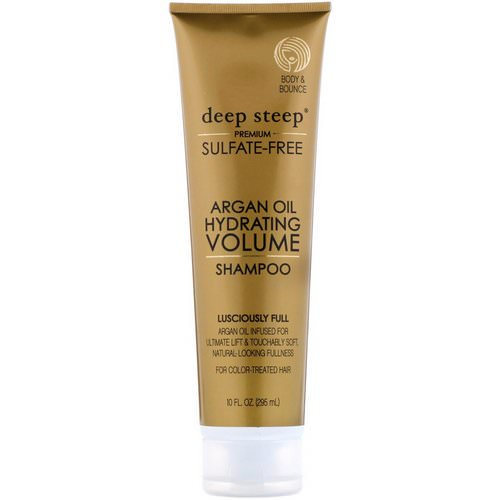 Deep Steep, Argan Oil, Hydrating Volume Shampoo, Lusciously Full, 10 fl oz. (295 ml) Review