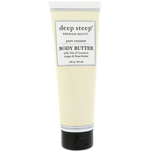Deep Steep, Body Butter, Pure Coconut, 8 fl oz (237 ml) Review