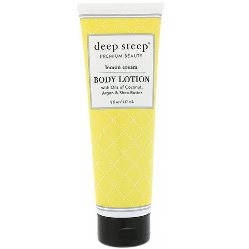 Deep Steep, Body Lotion, Lemon Cream, 8 fl oz (237 ml) Review