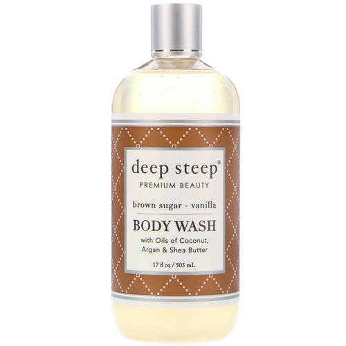 Deep Steep, Body Wash, Brown Sugar - Vanilla, 17 fl oz (503 ml) Review