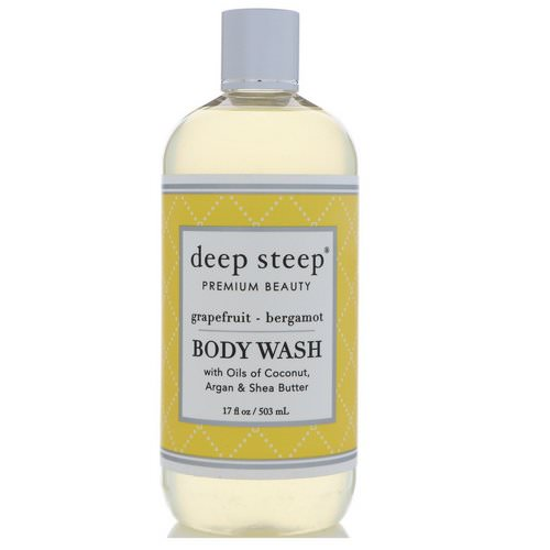 Deep Steep, Body Wash, Grapefruit - Bergamot, 17 fl oz (503 ml) Review
