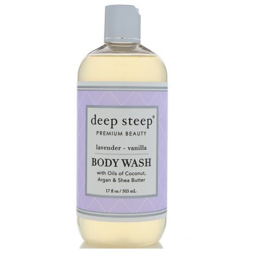 Deep Steep, Body Wash, Lavender - Vanilla, 17 fl oz (503 ml) Review