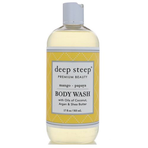 Deep Steep, Body Wash, Mango Papaya, 17 fl oz (503 ml) Review