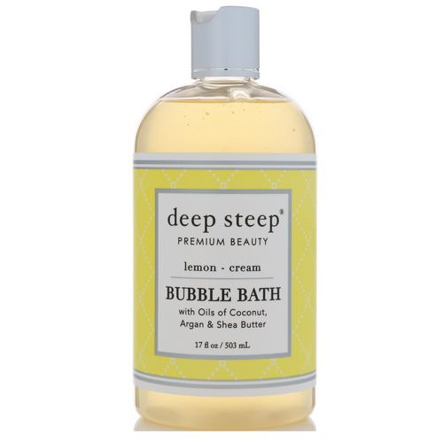 Deep Steep, Bubble Bath, Lemon - Cream, 17 fl oz (503 ml) Review