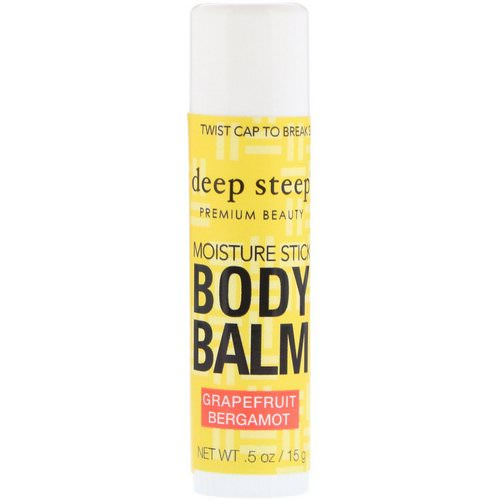 Deep Steep, Deep Steep, Moisture Stick Body Balm, Grapefruit Bergamot, .5 oz (15 g) Review