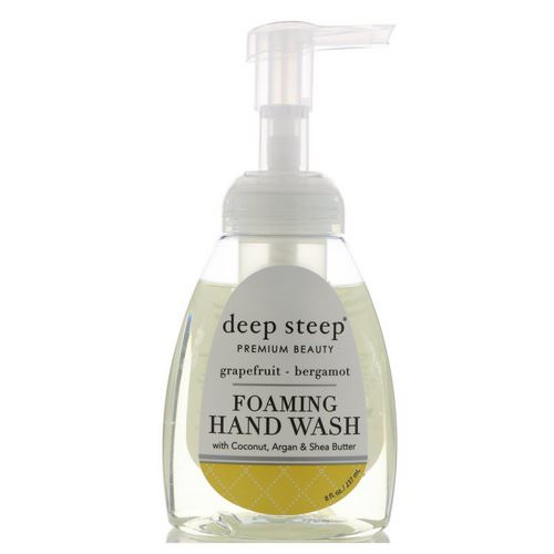 Deep Steep, Foaming Hand Wash, Grapefruit-Bergamot, 8 fl oz (237ml) Review