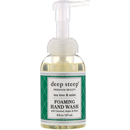 Deep Steep, Foaming Hand Wash, Tea Tree & Mint, 8 fl oz (237 ml) Review