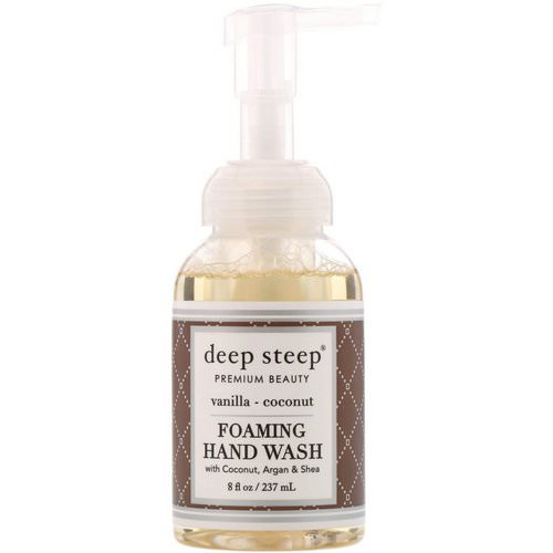 Deep Steep, Foaming Hand Wash, Vanilla Coconut, 8 fl oz (237 ml) Review