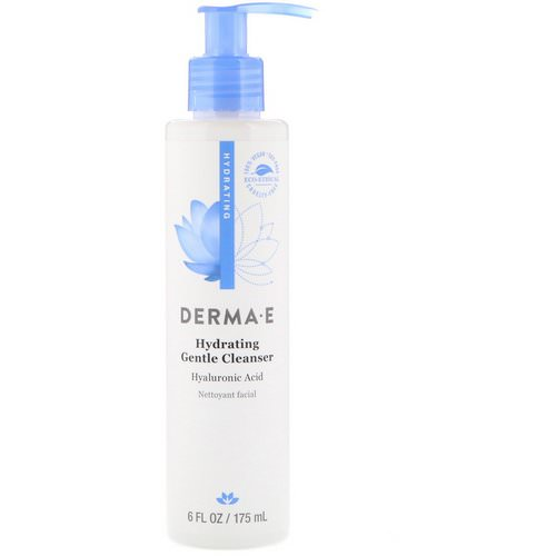 Derma E, Hydrating Gentle Cleanser, Hyaluronic Acid, 6 fl oz (175 ml) Review