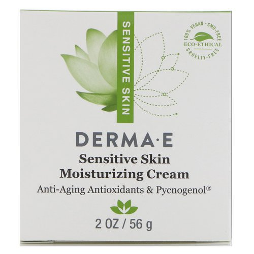 Derma E, Sensitive Skin Moisturizing Cream, 2 oz (56 g) Review