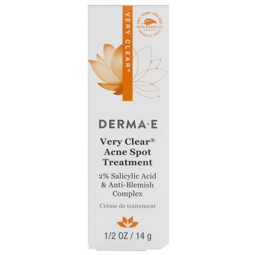 Derma E, Very Clear Acne Spot Treatment, 1/2 oz (14 g) Review