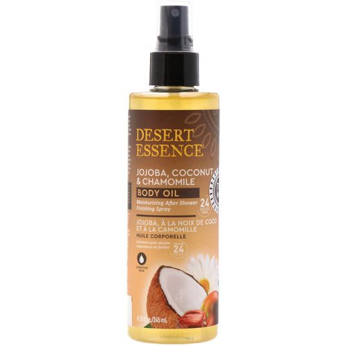 Desert Essence, Jojoba, Coconut & Chamomile Body Oil Spray, 8.28 fl oz (245 ml) Review