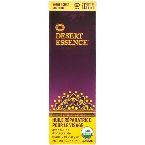 Desert Essence, Restorative Face Oil, .96 fl oz (28.3 ml) Review
