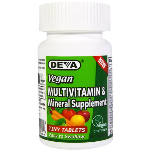 Deva, Vegan, Multivitamin & Mineral Supplement, Tiny Tablets, 90 Tablets Review
