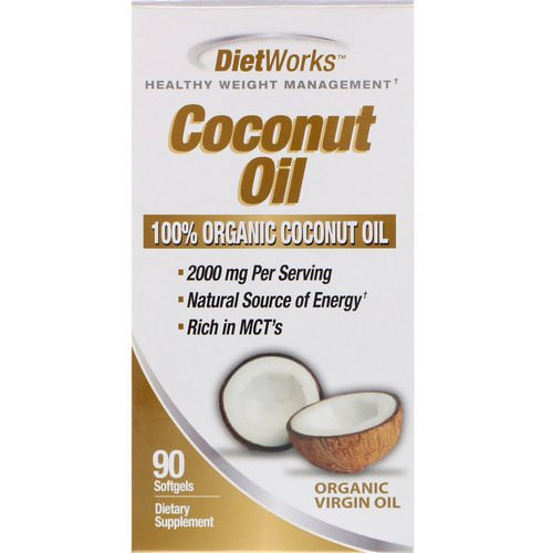 DietWorks, Coconut Oil, 90 Softgels Review