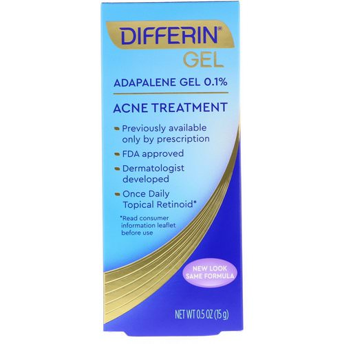Differin, Adapalene Gel 0.1 %, Acne Treatment, 0.5 oz (15 g) Review