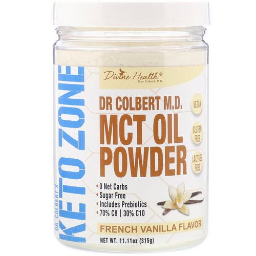 Divine Health, Dr. Colbert's Keto Zone, MCT Oil Powder, French Vanilla, 11.11 oz (315 g) Review