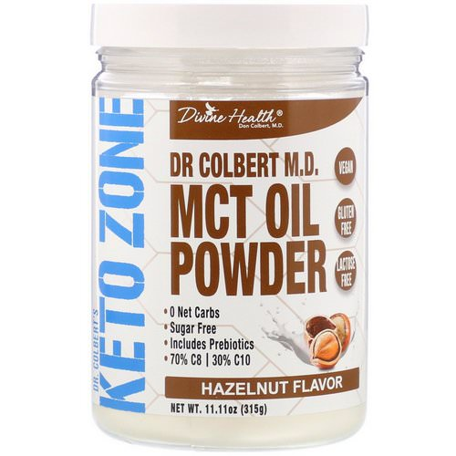 Divine Health, Dr. Colbert's Keto Zone, MCT Oil Powder, Hazelnut Flavor, 11.11 oz (315 g) Review