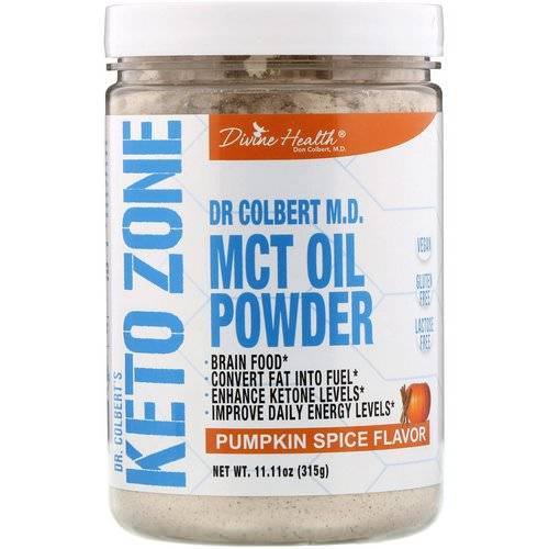 Divine Health, Dr. Colbert's Keto Zone, MCT Oil Powder, Pumpkin Spice Flavor, 11.11 oz (315 g) Review