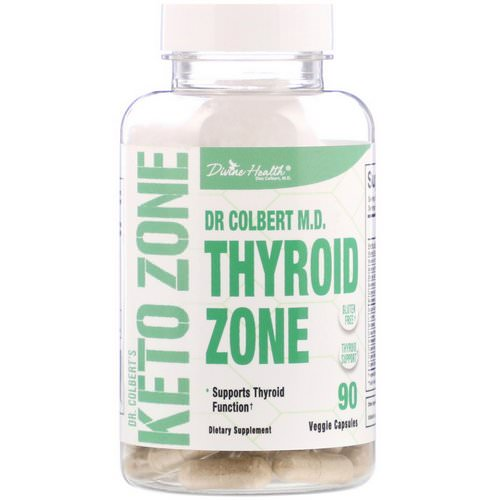 Divine Health, Dr. Colbert's Keto Zone, Thyroid Zone, 90 Veggie Capsules Review