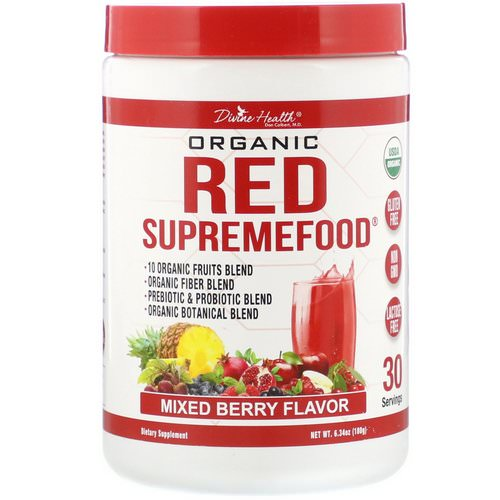 Divine Health, Organic Red SupremeFood, Mixed Berry, 6.34 oz (180 g) Review