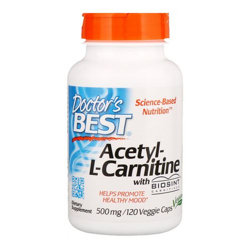 Doctor's Best, Acetyl-L-Carnitine, 500 mg, 120 Veggie Caps Review