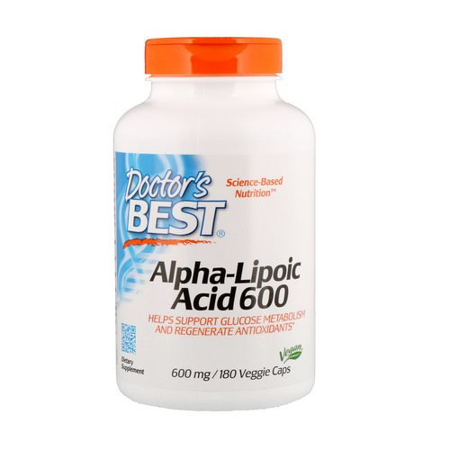 Doctor's Best, Alpha-Lipoic Acid, 600 mg, 180 Veggie Caps Review