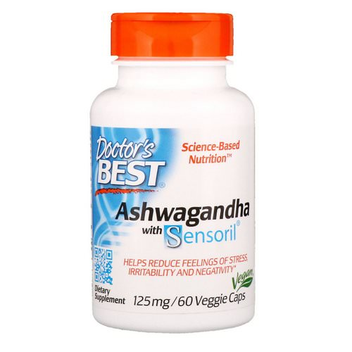 Doctor's Best, Ashwagandha with Sensoril, 125 mg, 60 Veggie Caps Review