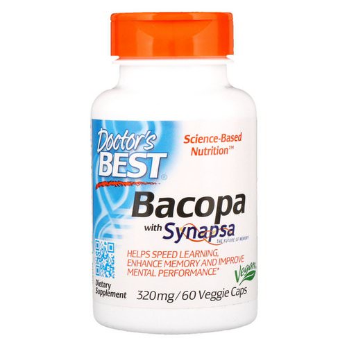 Doctor's Best, Bacopa With Synapsa, 320 mg, 60 Veggie Caps Review