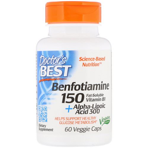 Doctor's Best, Benfotiamine 150 + Alpha-Lipoic Acid 300 with BenfoPure, 60 Veggie Caps Review