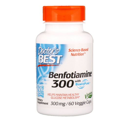Doctor's Best, Benfotiamine with BenfoPure, 300 mg, 60 Veggie Caps Review