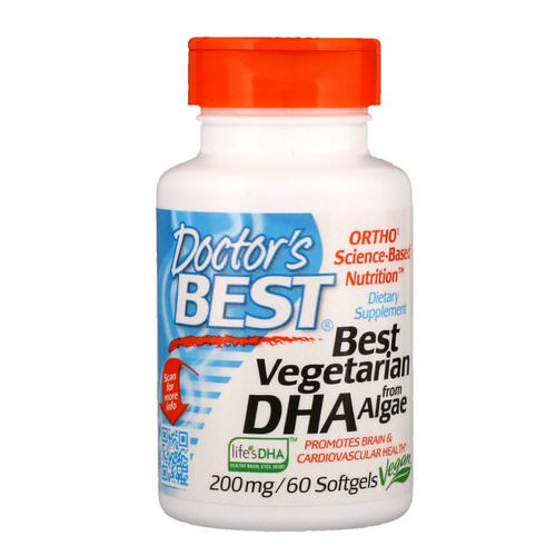 Doctor's Best, Best Vegetarian DHA, from Algae, 200 mg, 60 Softgels Review