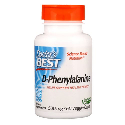 Doctor's Best, D-Phenylalanine, 500 mg, 60 Veggie Caps Review