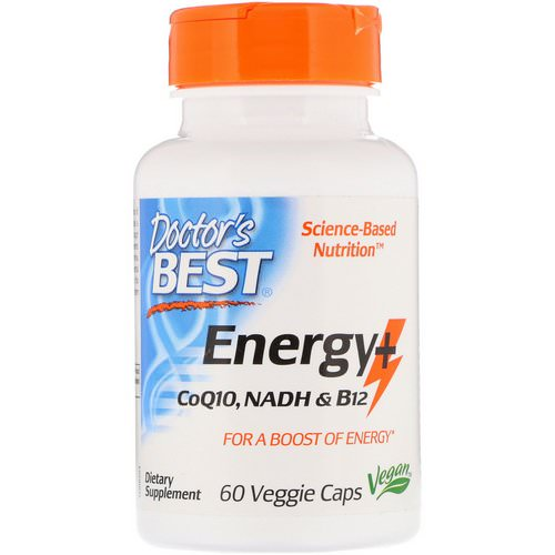 Doctor's Best, Energy+ CoQ10, NADH & B12, 60 Veggie Caps Review