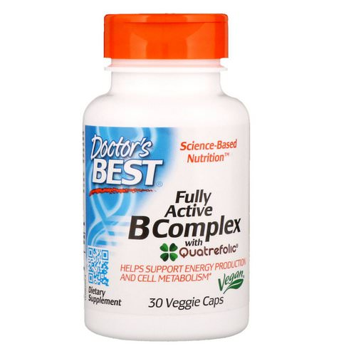 Doctor's Best, Fully Active B Complex with Quatrefolic, 30 Veggie Caps Review