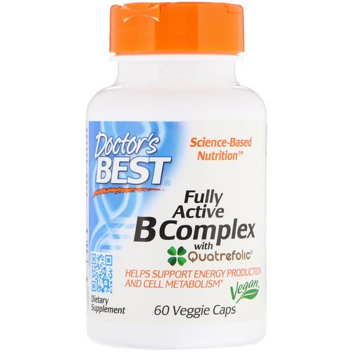 Doctor's Best, Fully Active B Complex with Quatrefolic, 60 Veggie Caps Review
