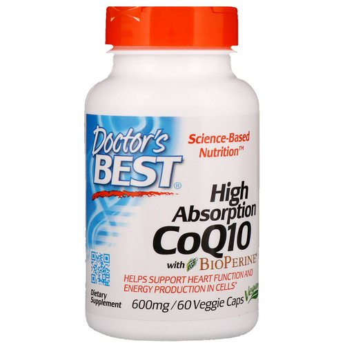 Doctor's Best, High Absorption CoQ10 with BioPerine, 600 mg, 60 Veggie Caps Review