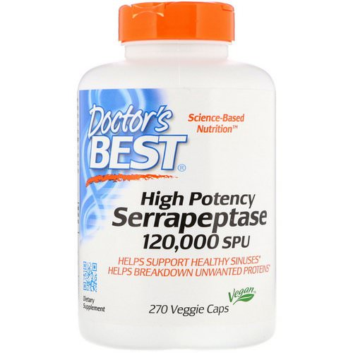 Doctor's Best, High Potency Serrapeptase, 120,000 SPU, 270 Veggie Caps Review